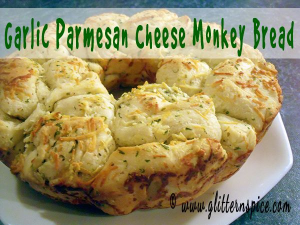 Garlic Parmesan Cheese Monkey Bread | Bread Machine Recipe