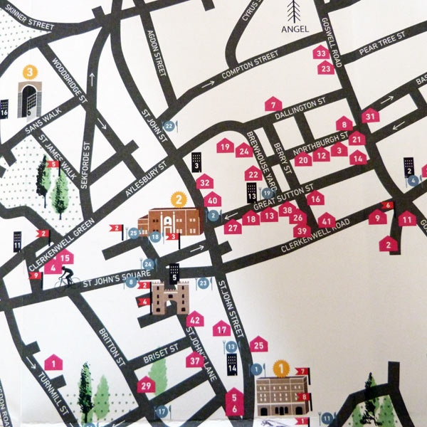 Clerkenwell Design Week map