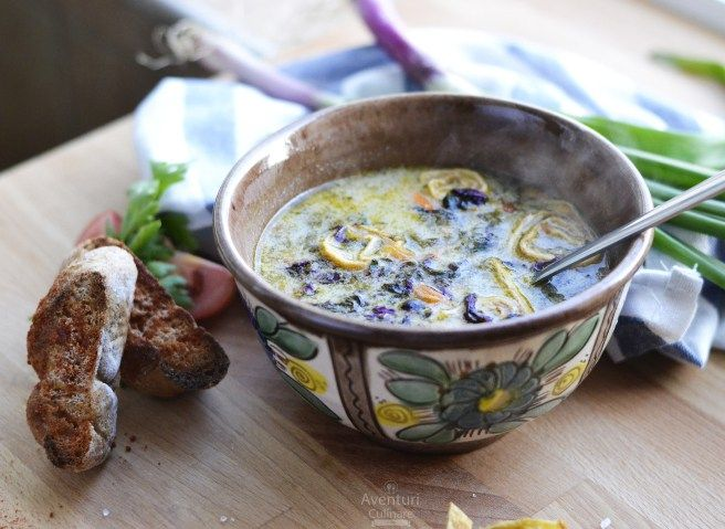 Ciorba de loboda si leurda cu omleta