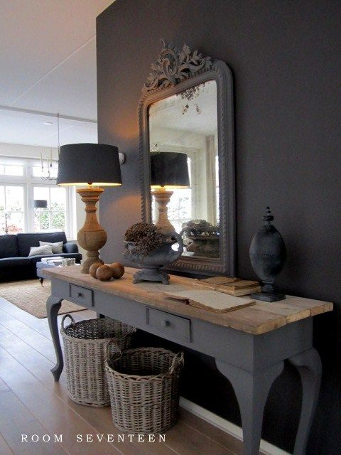 mirroir et table vintage