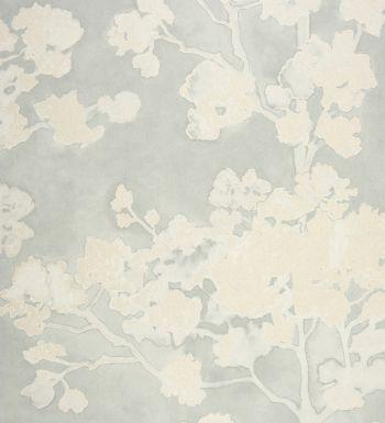 Las 25 mejores ideas sobre papel pintado de flores en - Papel pintado blanco y gris ...
