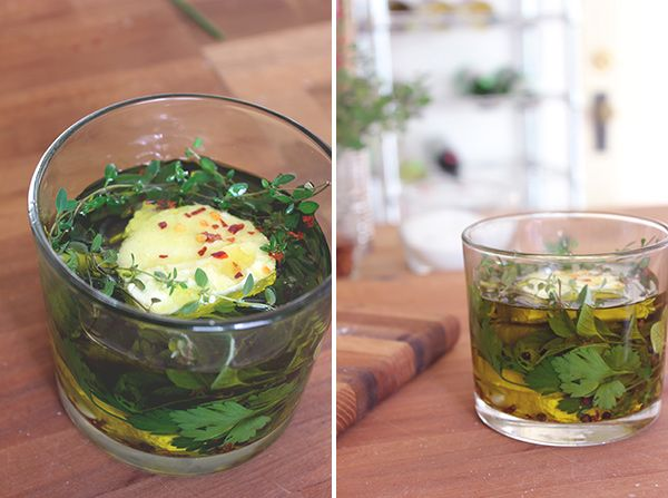 Marinated goat cheese - transform plain goat cheese into a fancy ...