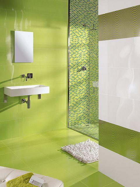 17 migliori idee su Arredo Bagno Verde su Pinterest  Combinazioni di colori da bagno, Colori da ...