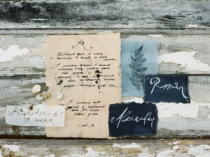 wedding invitation calligraphy - photo by Muravnik Photography http://ruffledblog.com/calming-baltic-sea-wedding-inspiration