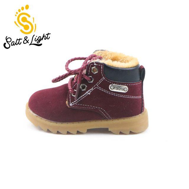 2016 niños del invierno del otoño Martin botas niñas botas, además de terciopelo mantienen botas de nieve caliente niños guardan los zapatos calientes