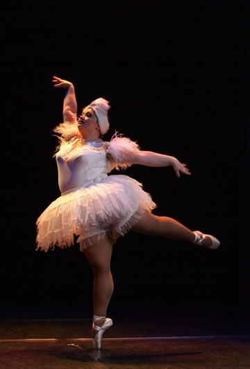 The Big Ballet is a troupe of dancers from Russia who weigh a minimum of 220 pounds each. they have the exact amount of dance skill as any other dance people!