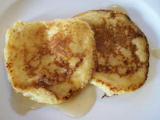 Cottage cheese pancakes..these are so delish. I use small curd cottage cheese and add a splash of vanilla.