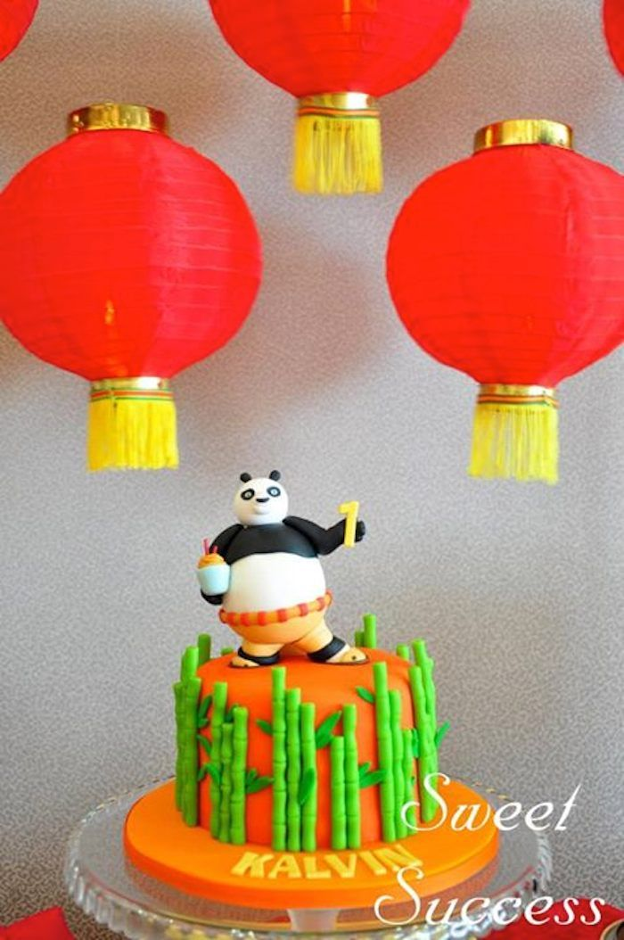 Love this KUNG FU PANDA CAKE from this Chinese Inspired Kung Fu Panda themed birthday party Full of Really Cute Ideas via Kara's Party Ideas Kara's Party Ideas   Cake, decor, cupc...
