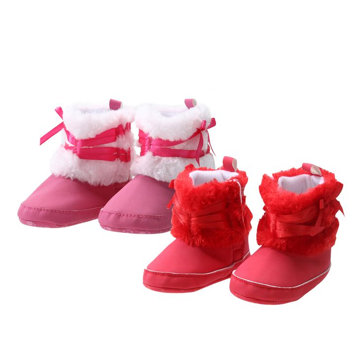 >> Click to Buy << Baby Girl Bowknot Fleece Snow Boots Booties Kids Princess Red Shoes for Babies Winter First Walker Christmas Shoes Baby Shoes #Affiliate