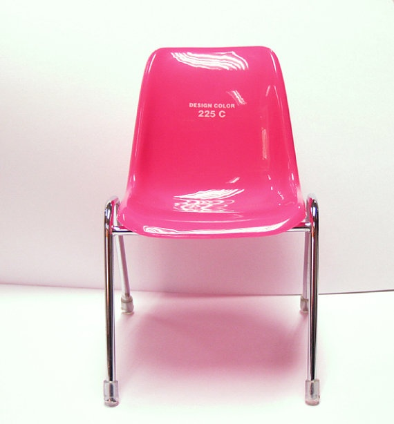 Miniature Design Chair A  for Blythe or Pullip. Pantone 225 C. via Etsy.