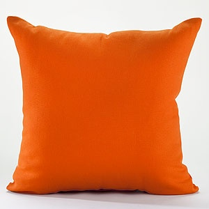 "18"" Burnt Orange Solid Toss Pillow at Cost Plus World Market"