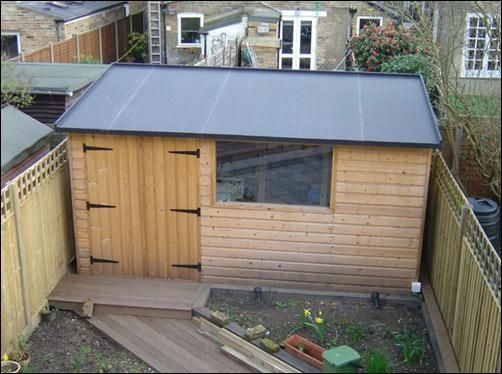 Flat Roof Wooden Sheds : Flat roof shed lugarde prima thomas garden