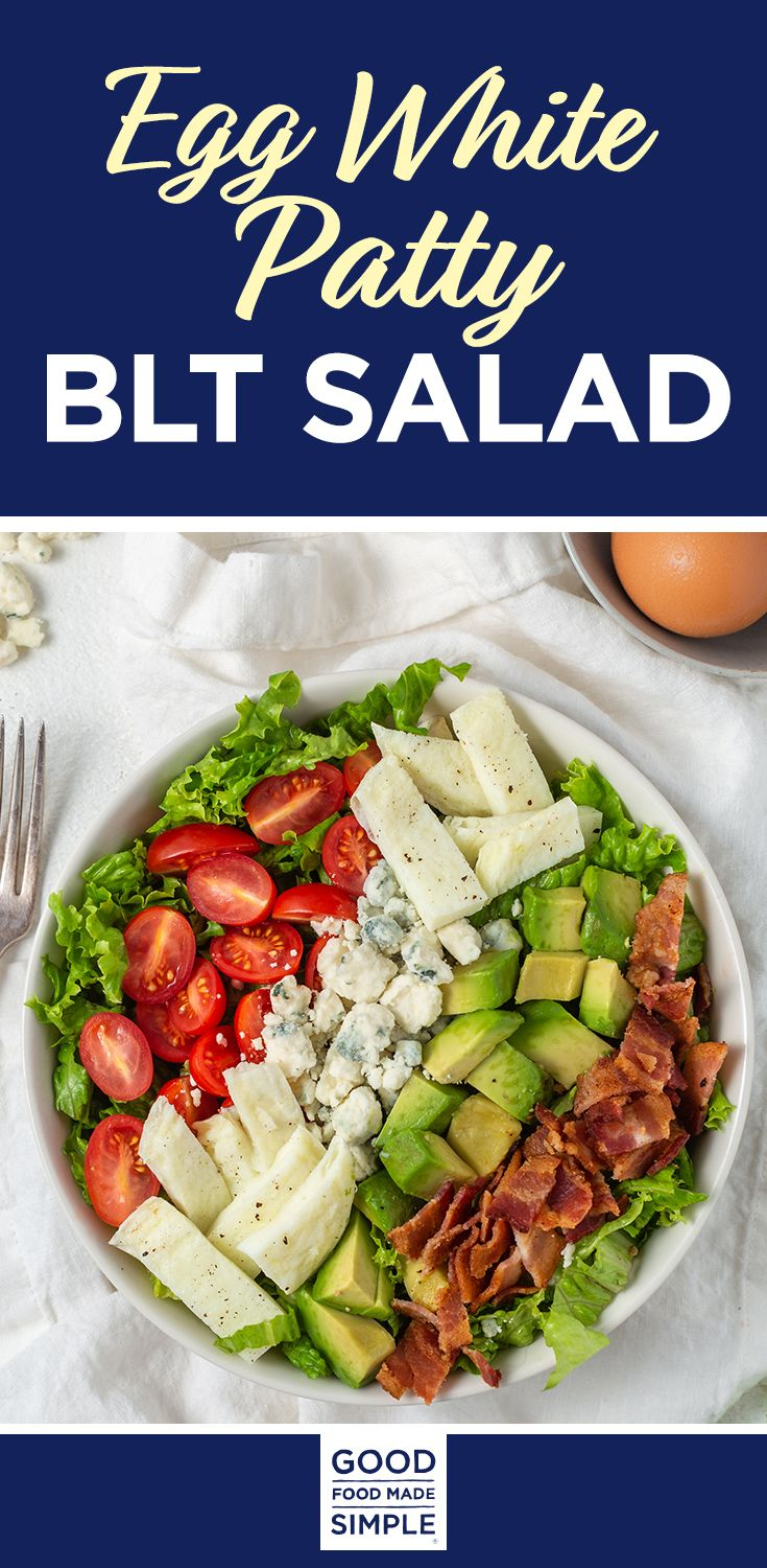Jun 28, 2020 – Egg White Patty BLT Salad – All of the crowd pleasing favorites of a B.L.T sandwich in a light and easy s…