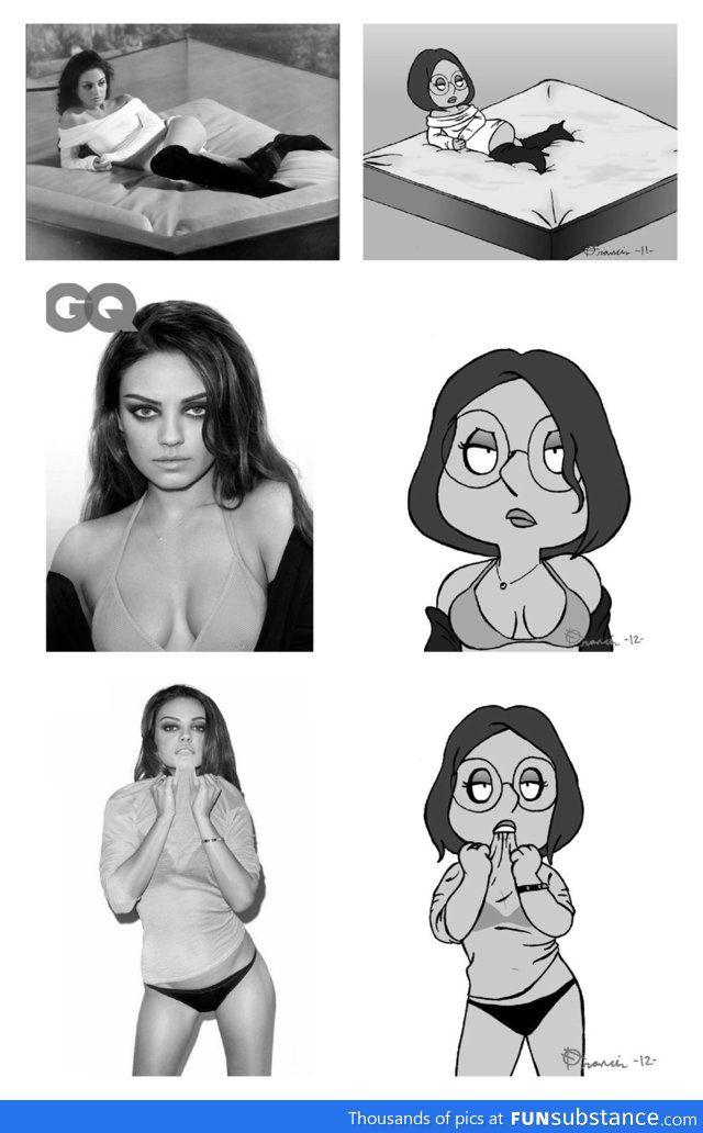 Mila Kunis vs Meg Griffin