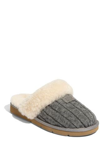 UGG® 'Cozy' Knit Slipper (Women) available at #Nordstrom...adorably cozy heaven!