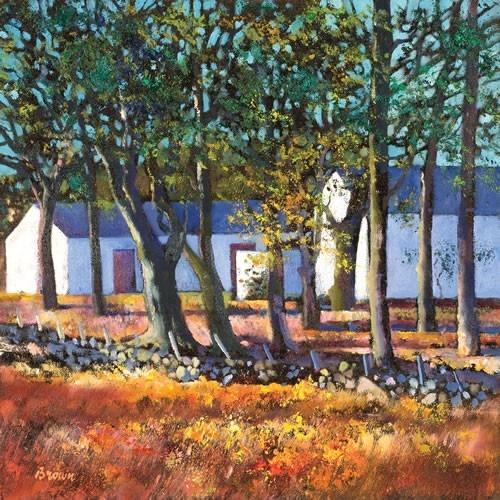 Art Prints Gallery - Farm Buildings through Trees (Limited Edition), £139.00 (http://www.artprintsgallery.co.uk/Davy-Brown/Farm-Buildings-through-Trees-Limited-Edition.html)