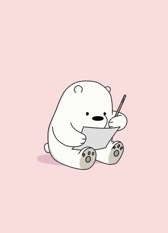Cute bear illustration Bare Bears Kartun, Hewan