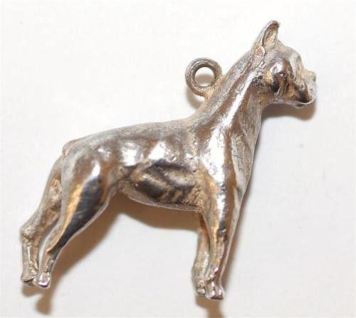 Vintage Sterling Silver Bracelet Charm Great Dane Dog (5.8g)