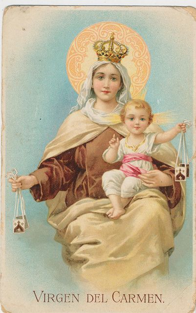 Our Lady of Mount Carmel - I love this picture!  So very sweet!