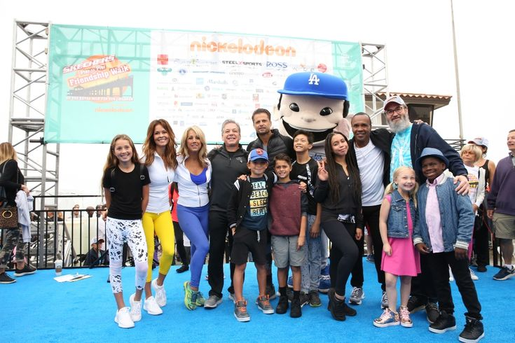 Lending an entertainment festival atmosphere to the Ninth Annual Skechers Pier to Pier Friendship Walk were (left to right)  Rain and Brooke Burke-Charvet, Denise Austin, Skechers President Michael Greenberg, David and Shaya Charvet and friend, Kieran Tamondong, Asia Monet, Sugar Ray Leonard, Friendship Foundation Director Yossi Mintz and Paige and Artyon of America's Got Talent. Photos by Will Hartman – Desert Rose Photography