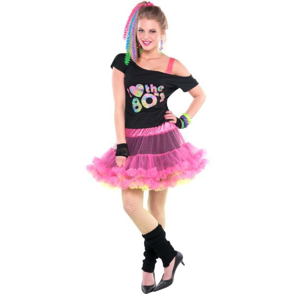 Adult 80s Valley Girl Costume Deluxe