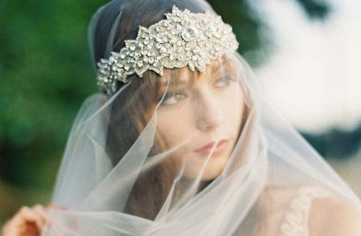 Ethereal Bridal Veils and Exquisite Accessories by Emily Riggs | OneWed
