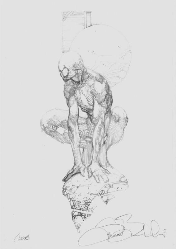 Bianchi - Spider-Man Black Costume Commission Lucca 08 Comic Art