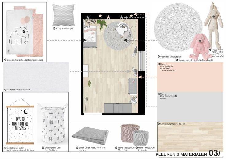 Woonmakers_ Babykamer_ Interieurontwerp_ Little star_ Kleuren en materialen