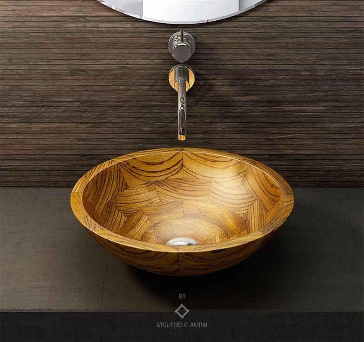 ZEBRA #wooden #basin