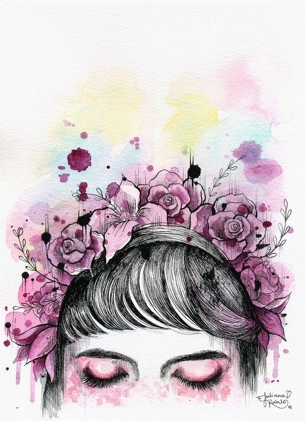 Aquarela por Juliana Rabelo, ilustradora brasileira;