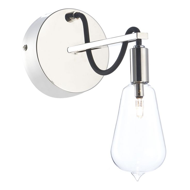SCR0738 Scroll Single Wall Light in Polished Nickel Polished nickel finish comes…