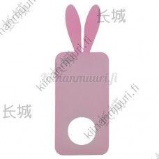 Vaaleanpunainen jänis silikonisuojakotelo, iPhone 4