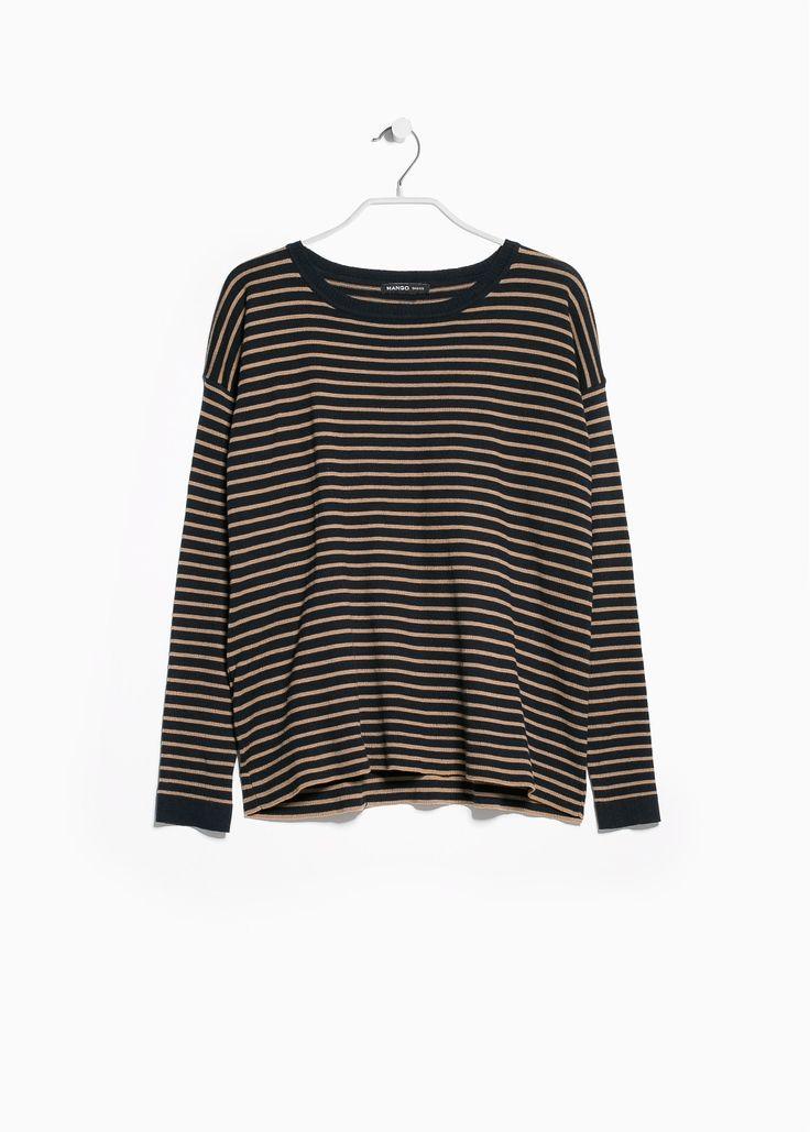 Sweter w pasy okrągły dekolt - Kardigany i swetry dla Kobieta   OUTLET
