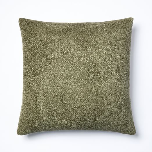 Woven Silk Pillow Cover - Olive