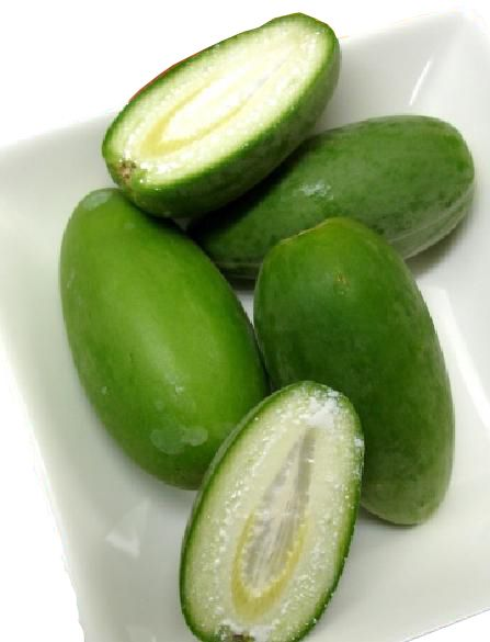 Marsdenia (Bush Banana) (Frozen)  Outback green vegetable - great with butter sauce  Price:  100g - $10.50