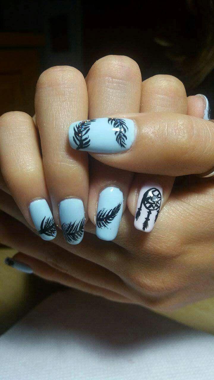 Feather nails_dreamcatcher
