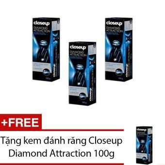 Mua Bộ 3 kem đánh răng Closeup Diamond Attraction 100g + Tặng kem đánh răng Closeup Diamond Attraction 100g chính hãng, giá tốt tại Lazada.vn, giao...