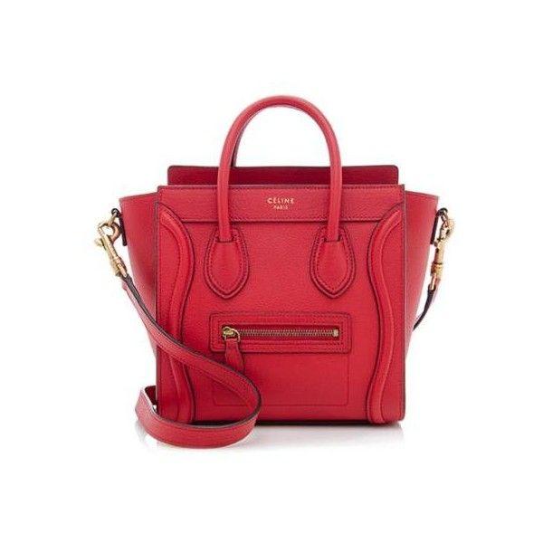 Rental Celine Pebbled Leather Nano Luggage Tote ($300) ? liked on ...