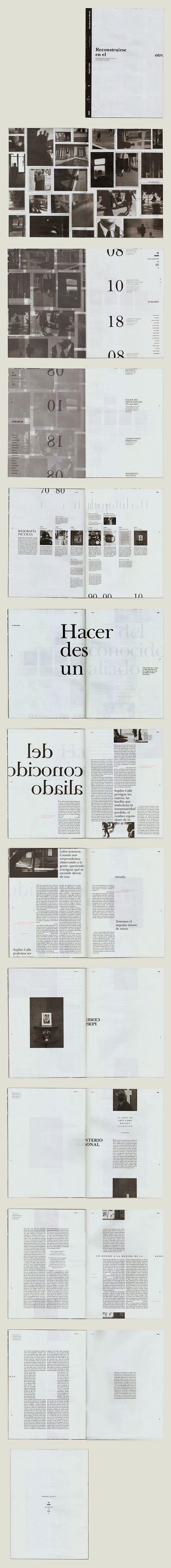 Fascículo Coleccionable. Sophie Calle.DG 2, Cátedra Gabriele, 2014.FADU, UBA.