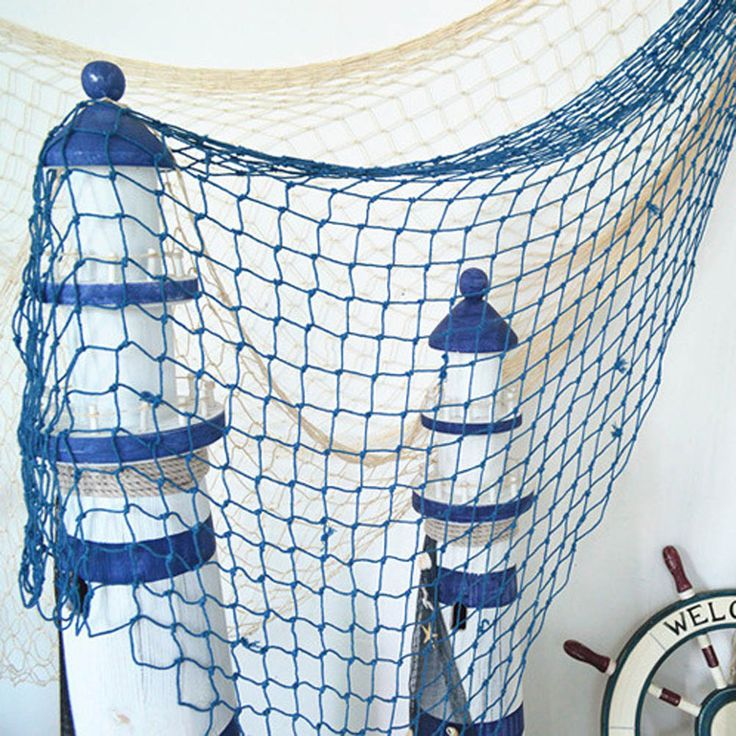 HOT Home The Mediterranean Sea style Wall Stickers big fishing net decoration home decoration wall hangings