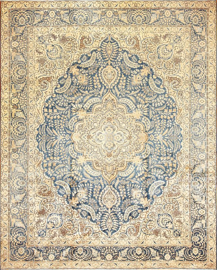 Click here to view this gorgeous elaborately woven large antique Persian Tabriz rug from Nazmiyal in the Greater New York area.
