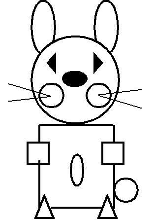 Раскраски Раскрась геометрические фигуры раскраска заяц из ...
