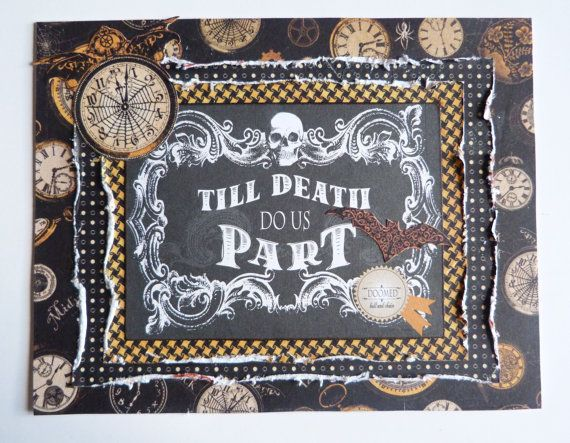 Halloween card Till Death Do Us Part by TheArtOfGirl on Etsy