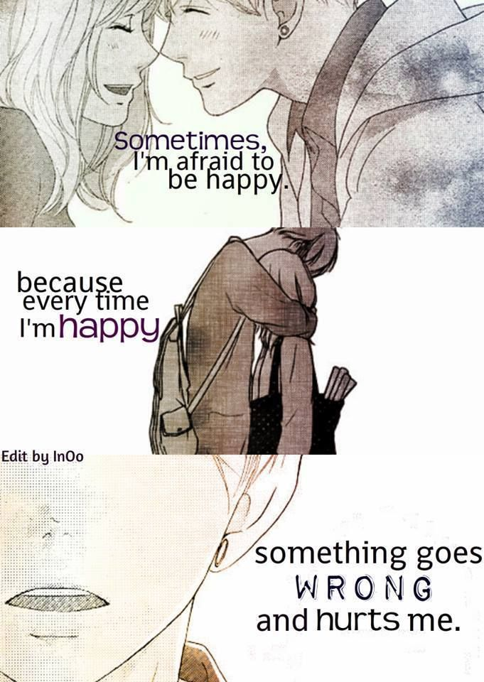 That\'s how things feel lately. Just hanging in there trying to stay afloat, as the world\'s flooding.  Manga: Ao haru ride