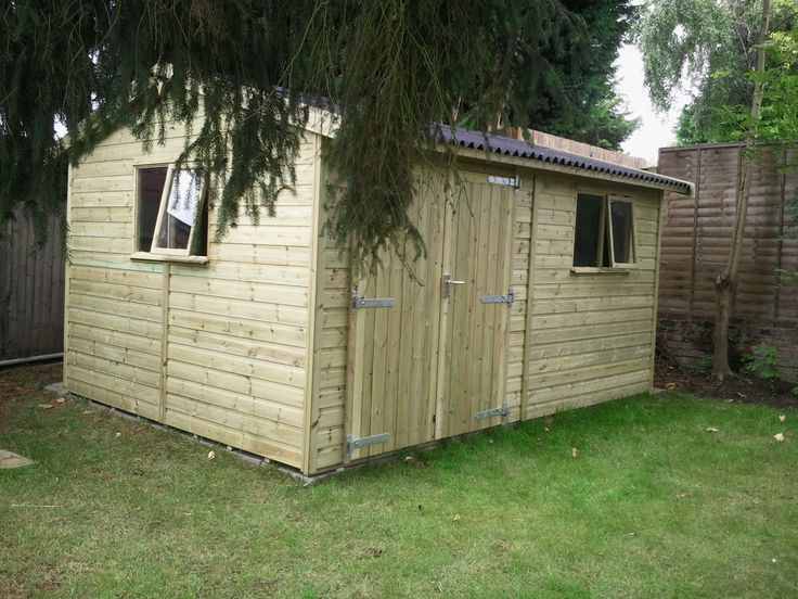 Heavy duty tanalised timber/wooden workshop with Onduline roof.