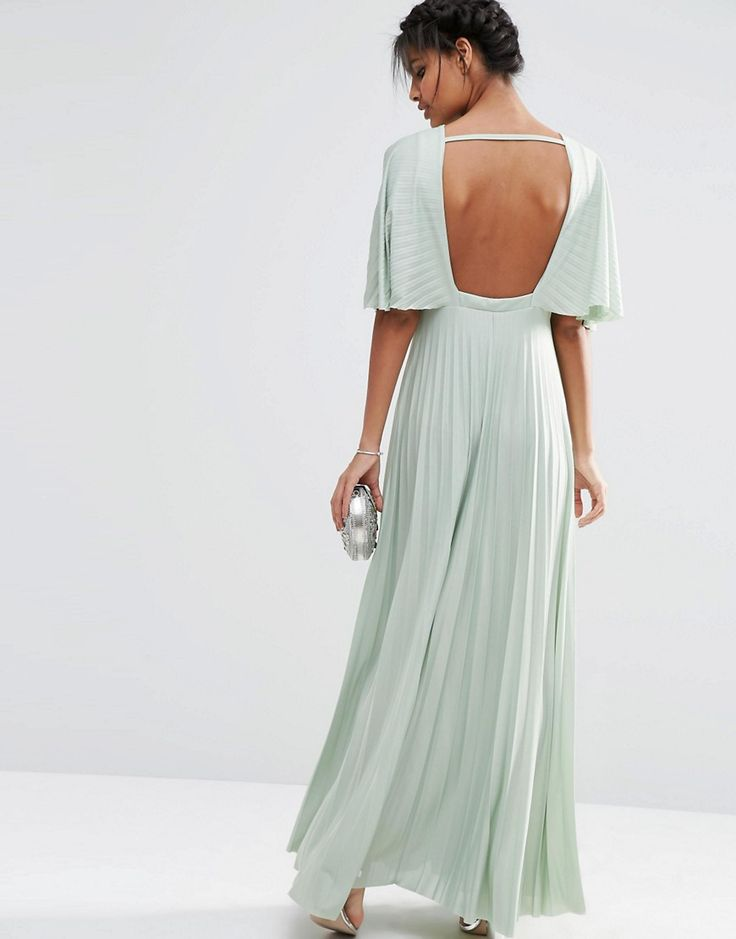 Emerald green maxi dress asos uk