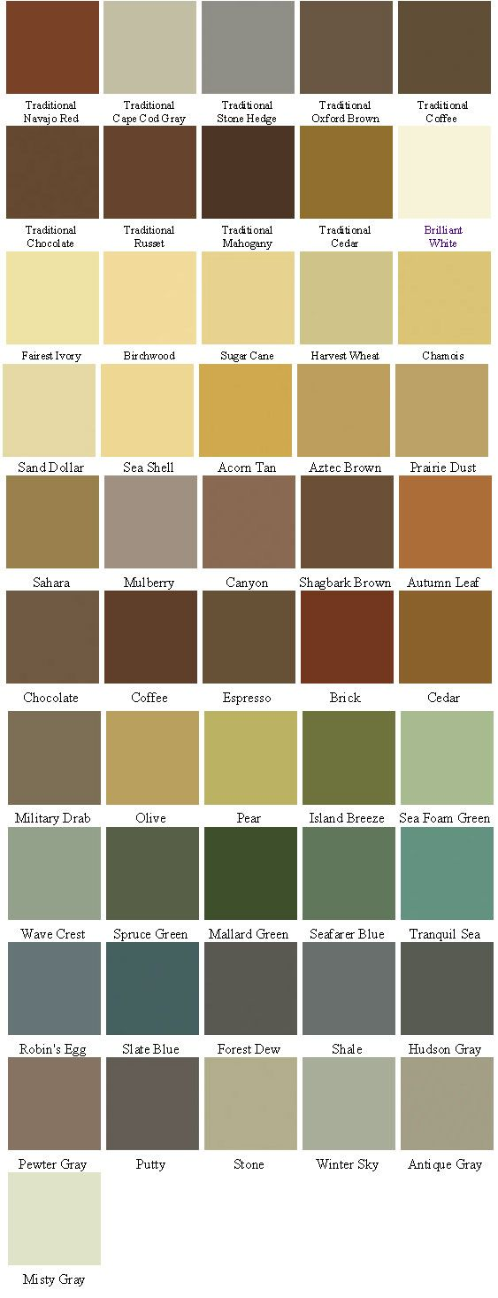 Behr Solid Deck Stain Colors Color Chart