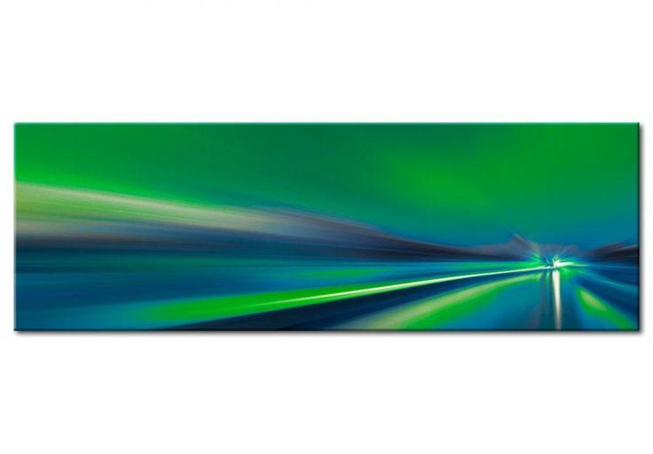 Obraz abstrakcyjny na ścianę w kolorze energetycznej zieleni. Wspaniała dekoracja do nowoczesnego wnętrza!