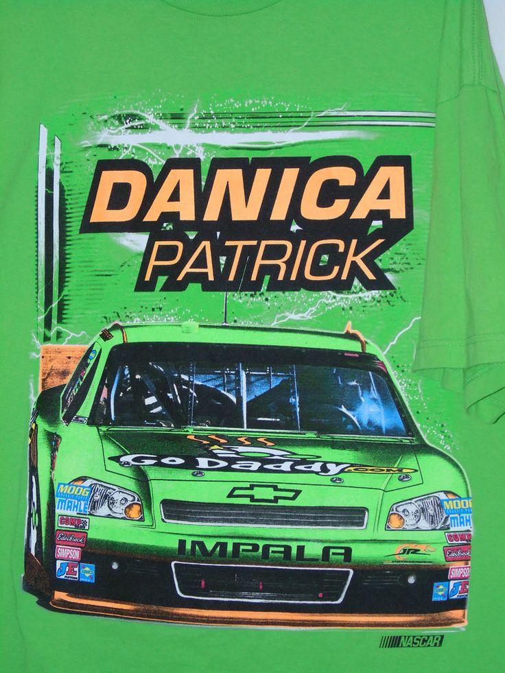 2XL Danica Patrick GoDaddy Chevy Impala Nascar T-shirt JR Motorsports Green #Nascar #JRMotorsports