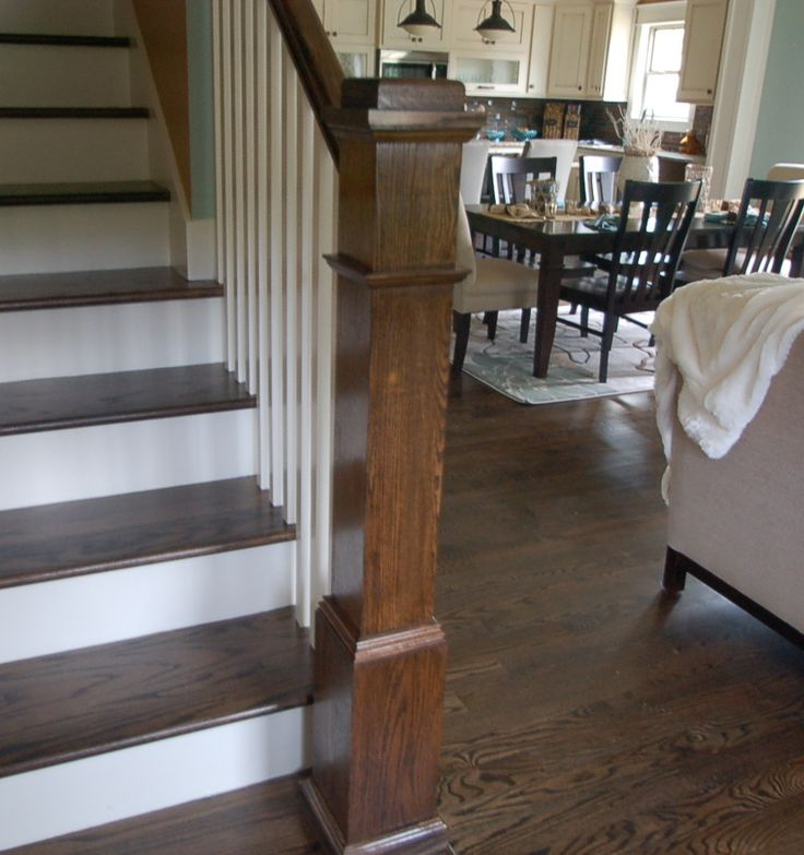 Beautiful Interior Staircase Ideas And Newel Post Designs: Craftsman Style Newel Post.
